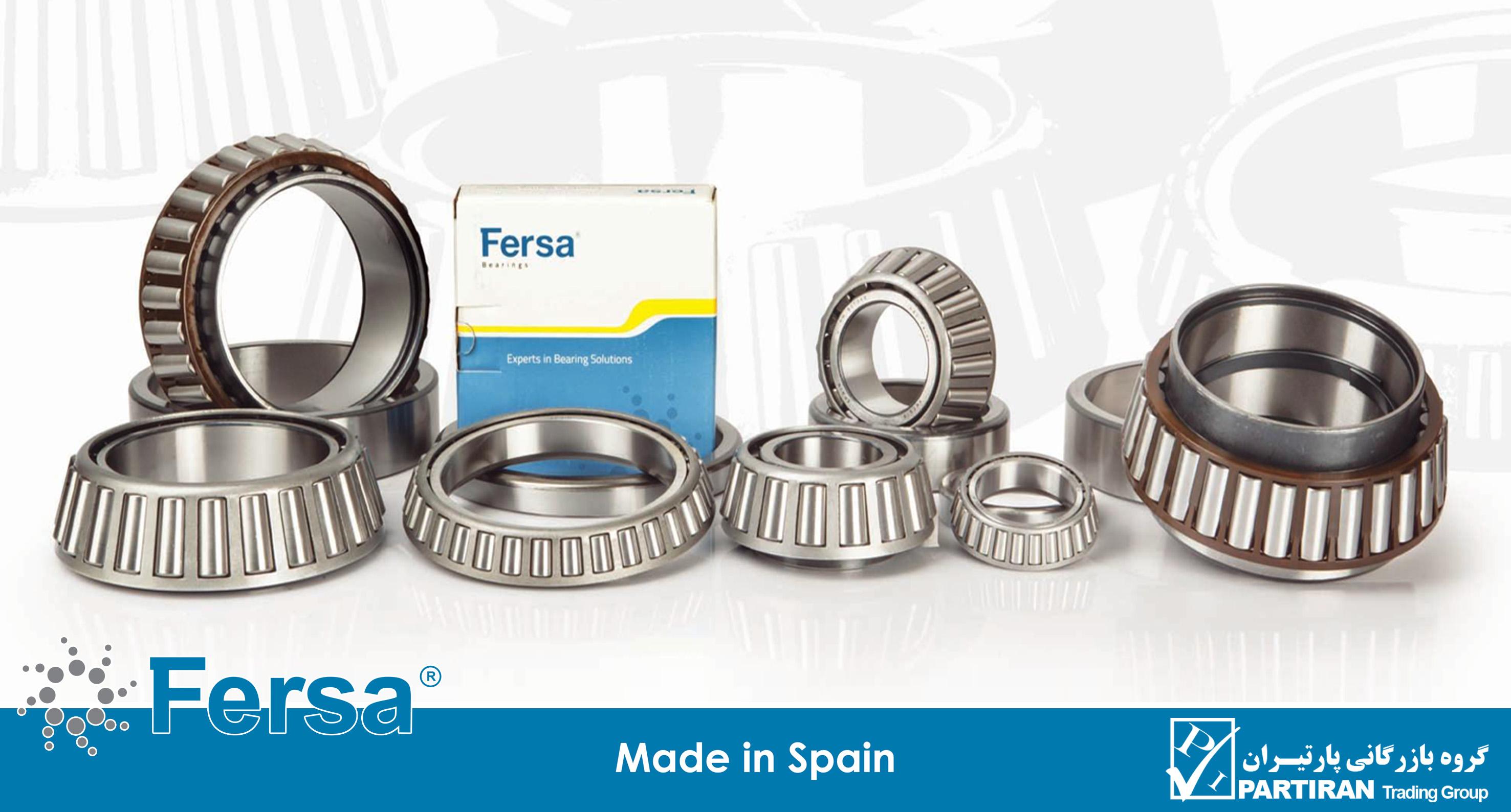 گروه بازرگانی پارتیران نماینده رسمی فرسا (Fersa) اسپانیا در ایران ، تولید کننده انواع بلبرینگ چرخ عقب وانت نیسان انواع خودروهای سبک و سنگین و ماشین آلات